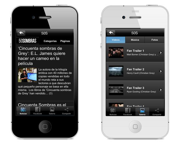 Ya está aquí la aplicación de 50 Sombras de Grey para iPhone!