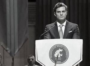 La primera imagen de Christian en la graduación de Anastasia